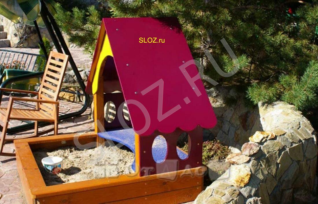 Детский домик с песочницей своими руками фото 87