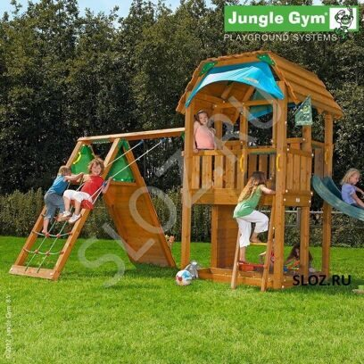 Детский городок Jungle Barn+Climb Module Xtra