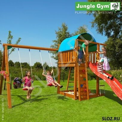 Детский городок Jungle Villa+SwingModule Xtra